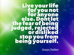 Image result for live the life for you sonya parker